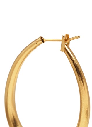 Detail View - Click To Enlarge - Ela Stone - 'Jenny' mini jade spike hoop earrings