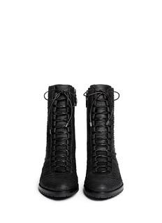 ALEXANDRE BIRMAN'Benjamine' matte python leather combat boots