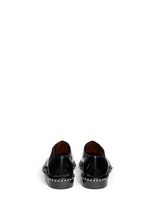 Back View - Click To Enlarge - Givenchy - 'Iconic Studs Richel' leather Oxfords
