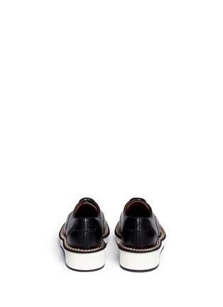 背面 - 点击放大 - GIVENCHY - 链条装饰真皮系带鞋