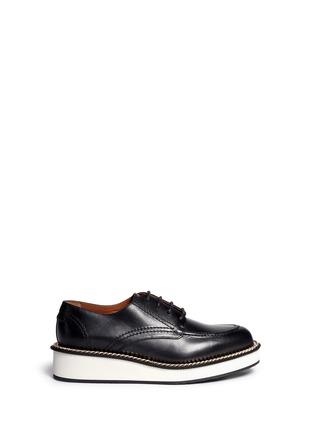首图 - 点击放大 - GIVENCHY - 链条装饰真皮系带鞋