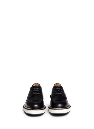 Givenchy-Rottweiler chain leather Derbies