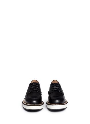 模特儿示范图 - 点击放大 - GIVENCHY - 链条装饰真皮系带鞋
