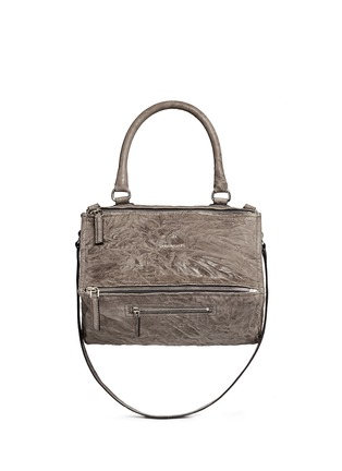 Main View - Click To Enlarge - Givenchy - 'Pandora' medium washed lambskin leather bag