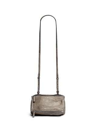 Main View - Click To Enlarge - Givenchy - 'Pandora' mini washed lambskin leather bag