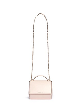 Main View - Click To Enlarge - Givenchy - 'Pandora' mini chain leather Palma shoulder bag