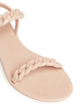 Detail View - Click To Enlarge - Givenchy - Chain strap jelly sandals