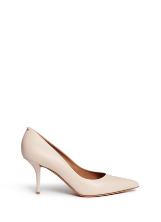 Givenchy-Metal bar leather pumps