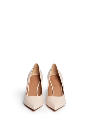 Figure View - Click To Enlarge - Givenchy - Metal bar leather pumps