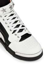 'Tyson' high top star stud leather sneakers