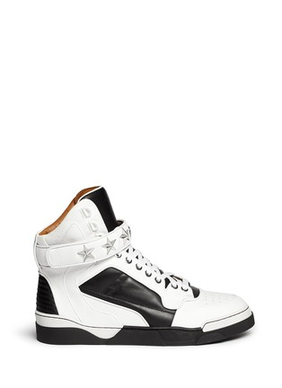 Main View - Click To Enlarge - Givenchy - 'Tyson' high top star stud leather sneakers