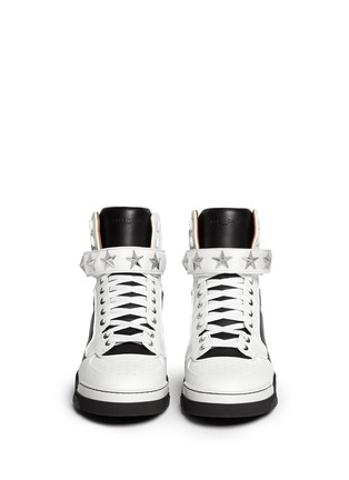 Figure View - Click To Enlarge - Givenchy - 'Tyson' high top star stud leather sneakers
