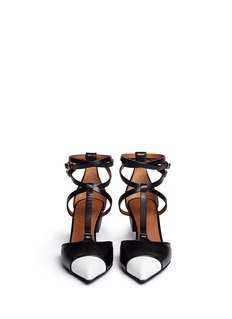 GIVENCHYScrew heel contrast toe leather strap pumps
