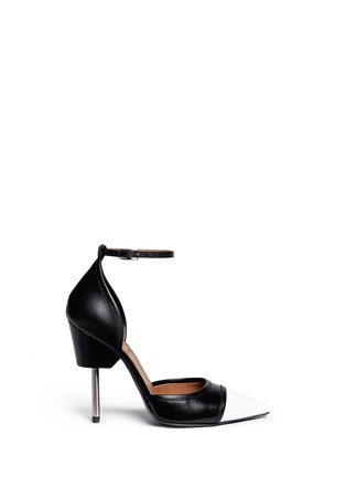 Main View - Click To Enlarge - Givenchy - Screw heel contrast toe leather pumps