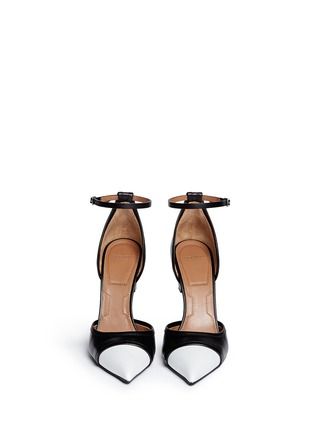 Figure View - Click To Enlarge - Givenchy - Screw heel contrast toe leather pumps