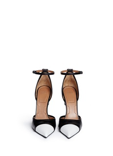 GIVENCHYScrew heel contrast toe leather pumps