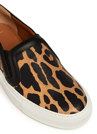 Detail View - Click To Enlarge - Givenchy - Leopard print leather skate slip-ons