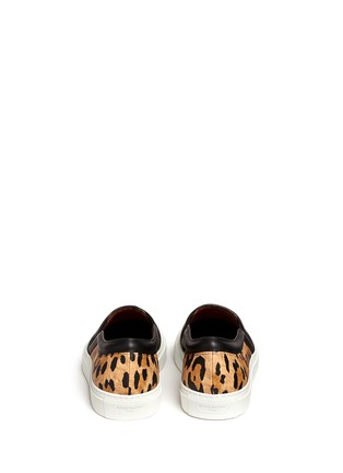 Back View - Click To Enlarge - Givenchy - Leopard print leather skate slip-ons