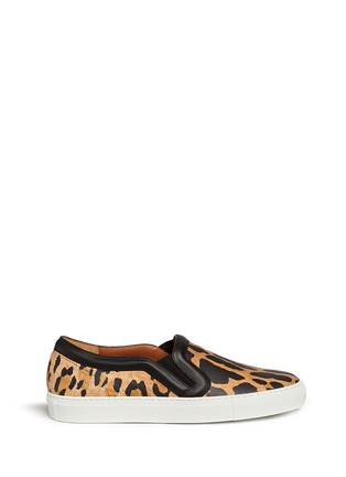 Main View - Click To Enlarge - Givenchy - Leopard print leather skate slip-ons