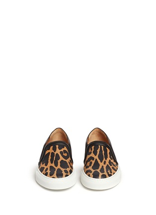 Figure View - Click To Enlarge - Givenchy - Leopard print leather skate slip-ons