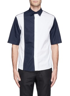 MARNIColourblock duo layer sleeve shirt