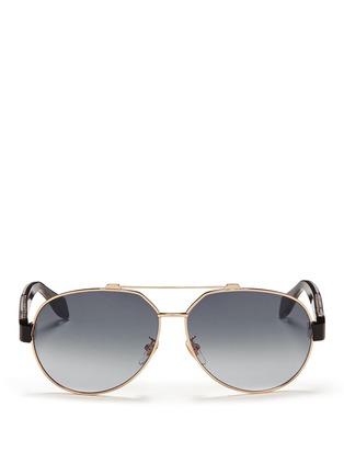 首图 - 点击放大 - ALEXANDER MCQUEEN - Ridge wire core aviator sunglasses