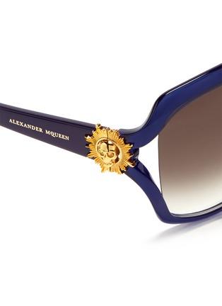 细节 - 点击放大 - ALEXANDER MCQUEEN - Sunray skull stud acetate sunglasses