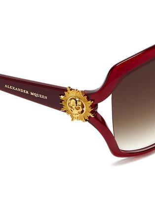 细节 - 点击放大 - ALEXANDER MCQUEEN - Sunray skull suspended lens acetate sunglasses