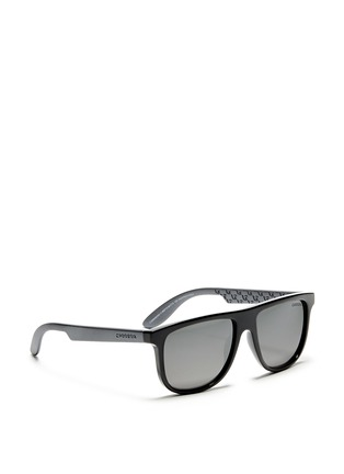 Figure View - Click To Enlarge - CARRERA - 'Carrerino 13' junior plastic flat top mirror sunglasses