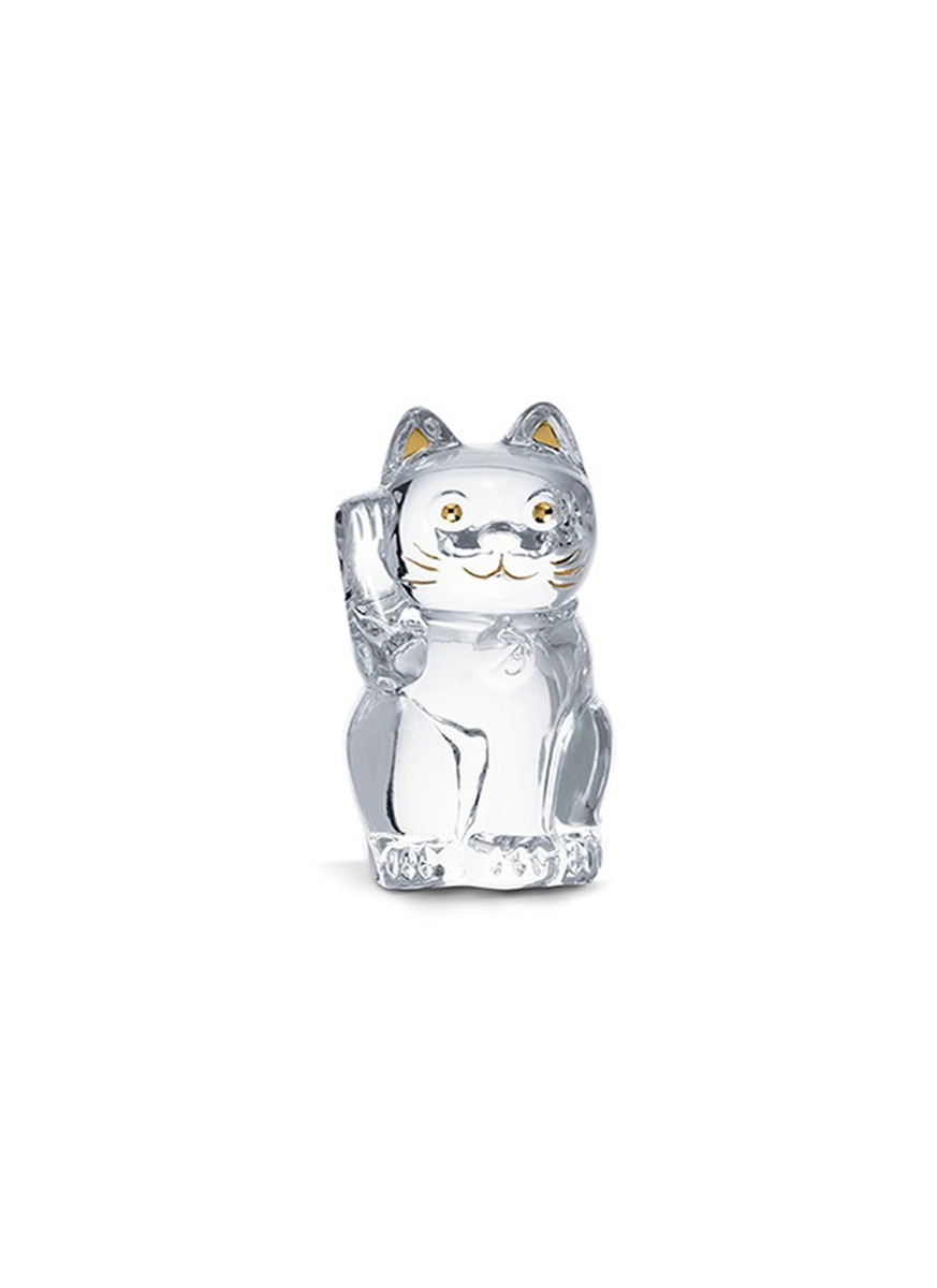 Chat lucky cat sculpture by Baccarat