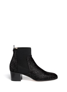 JIMMY CHOO 'Hallow' pixel glitter suede ankle boots