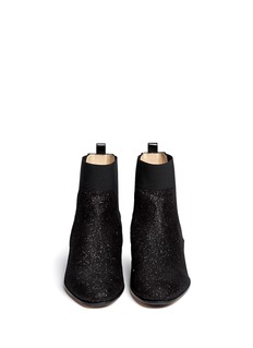 JIMMY CHOO'Hallow' pixel glitter suede ankle boots
