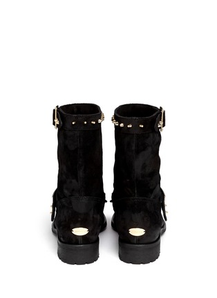 Back View - Click To Enlarge - Jimmy Choo - 'Dash' stud coated suede biker boots