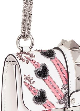 - Valentino - 'Rockstud Lock' mini Love Blade embellished shoulder bag