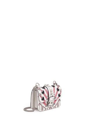 Figure View - Click To Enlarge - Valentino - 'Rockstud Lock' mini Love Blade embellished shoulder bag