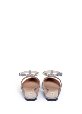 Back View - Click To Enlarge - Valentino - 'Rockstud' leather flats