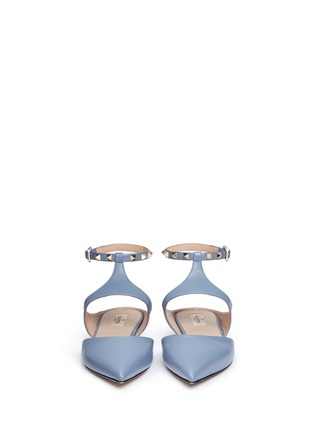 Front View - Click To Enlarge - Valentino - 'Rockstud' leather flats