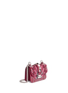 Valentino 'Rockstud Lock' mini Love Blade embellished shoulder bag