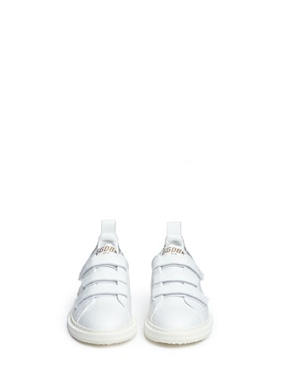 Figure View - Click To Enlarge - Golden Goose - 'Smash' glitter collar leather kids sneakers