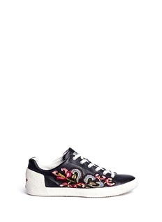 Ash'Nexus' floral embroidered leather sneakers