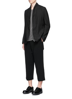 The Viridi-anne Pleated wide leg suiting pants