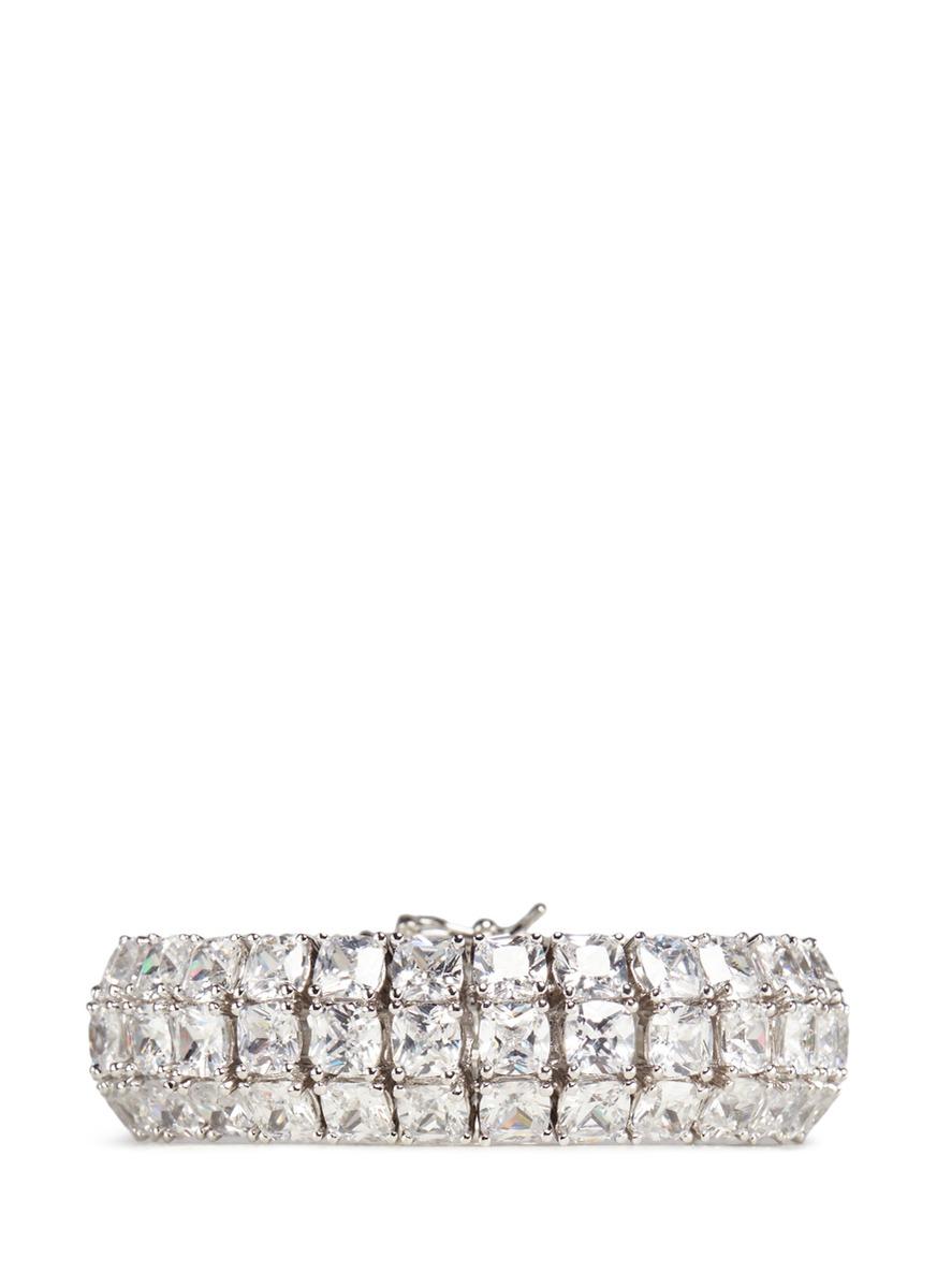cz by kenneth jay lane female bombay cubic zirconia pave bracelet