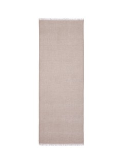 IshRaw edge cashmere scarf