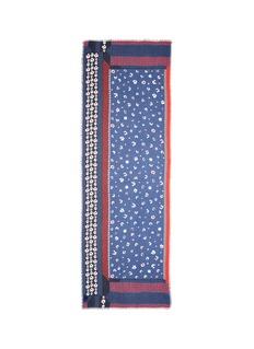 Franco Ferrari'Lazzaro' panelled floral print modal-cashmere scarf