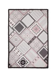 Franco Ferrari'Danao' paisley patchwork print silk-modal scarf
