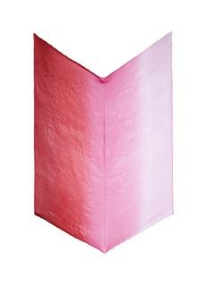 Franco FerrariOmbré plissé pleated silk scarf