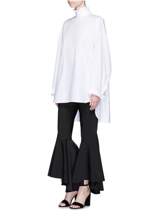Figure View - Click To Enlarge - Ellery - 'Runaways' pleated collar open back top