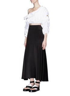 Ellery 'Third Degrees' asymmetric off-shoulder ruffle cropped top