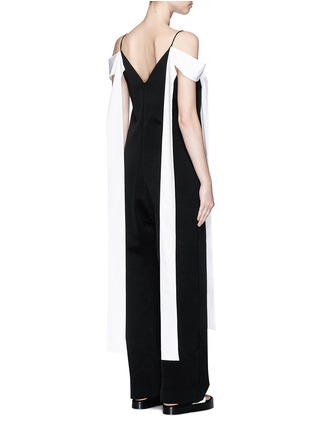 Back View - Click To Enlarge - Ellery - 'Regina' sleeve tie crepe jumpsuit