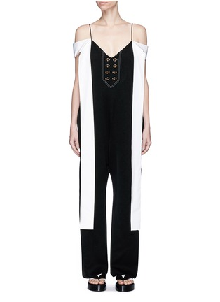 Main View - Click To Enlarge - Ellery - 'Regina' sleeve tie crepe jumpsuit